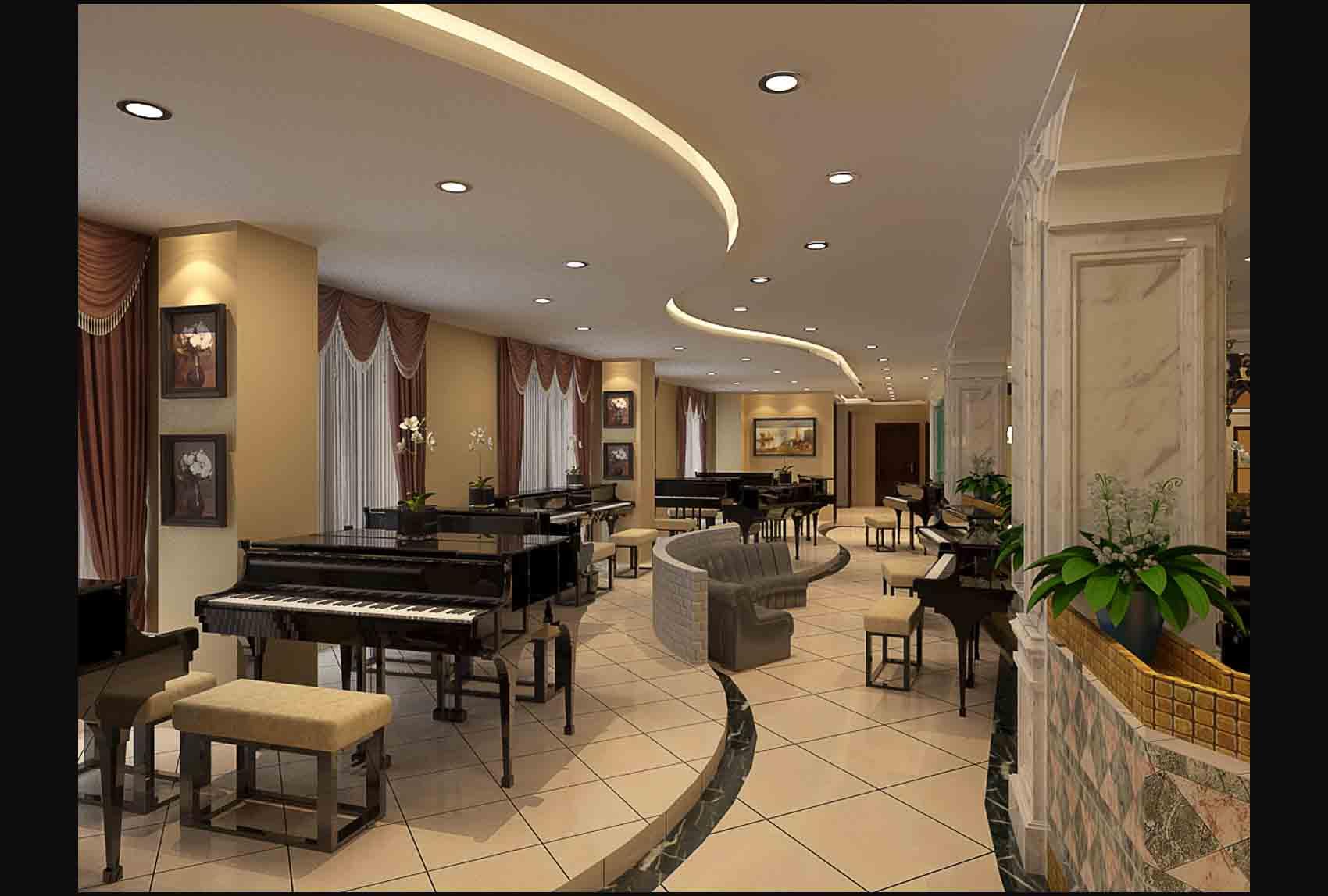 钢琴培训中心_装修之家装修效果图