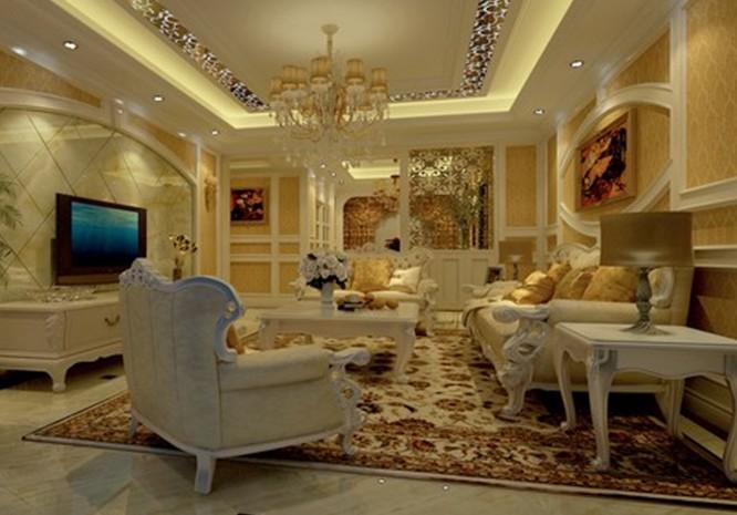 比如为了贴合电视的功能需求,采用米黄贴砖的造型墙代替了传统的欧式