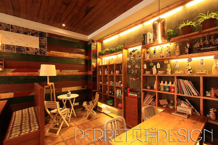 咖啡屋一室一厅一卫装修案例效果图 25平米设计