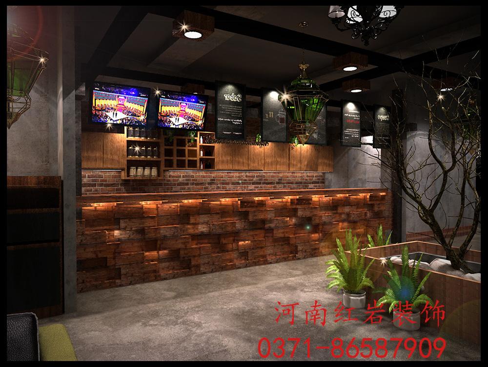 郑州咖啡厅现代复古风格装修效果图