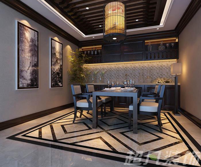 客厅及公共区域地面以及卫生间墙面,地面,采用复合大理石地砖拼花铺贴图片