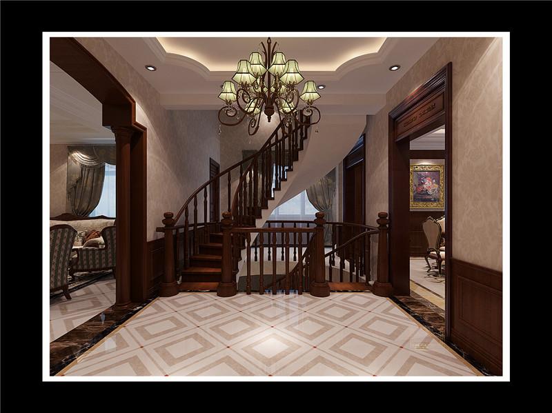 欧式别墅楼梯吊顶