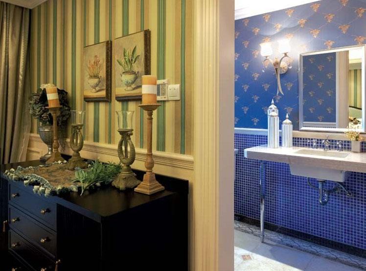 欧式客厅沙发背景墙纸装修