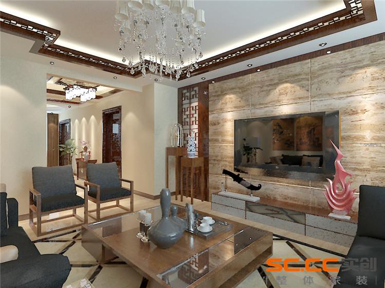 新中式木地板装修效果图