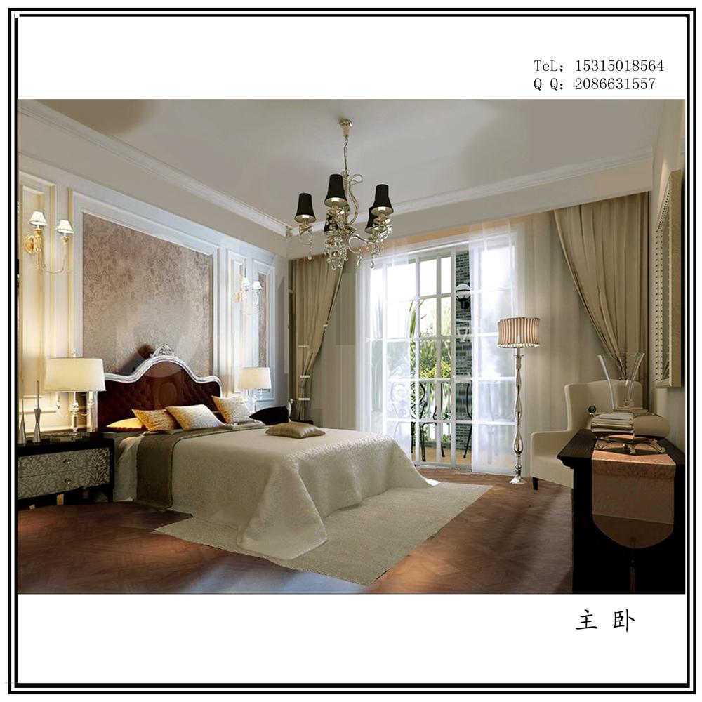 精美案例 【蔚蓝群岛】142平居室简欧风格高贵大气  地区:青岛楼盘