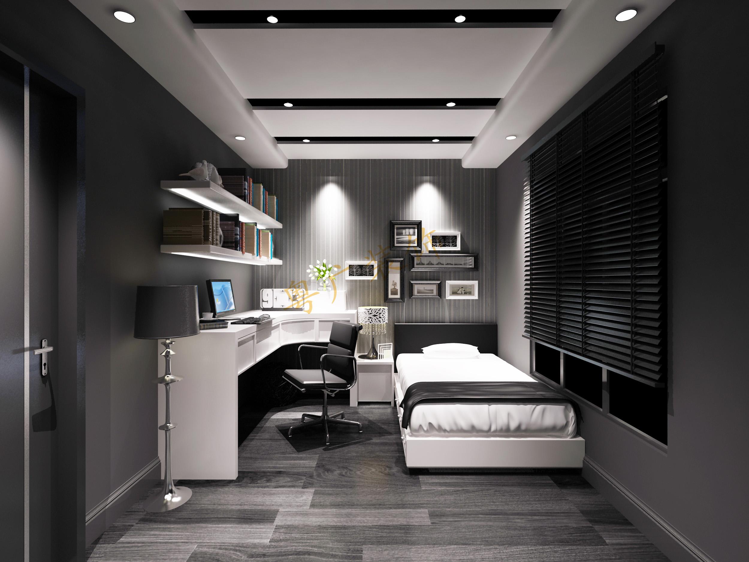 现代风格黑白灰装修效果图