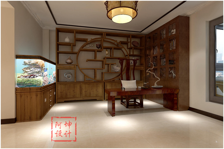 世茂玲珑台新中式别墅装修_装修案例图_青岛装修之家
