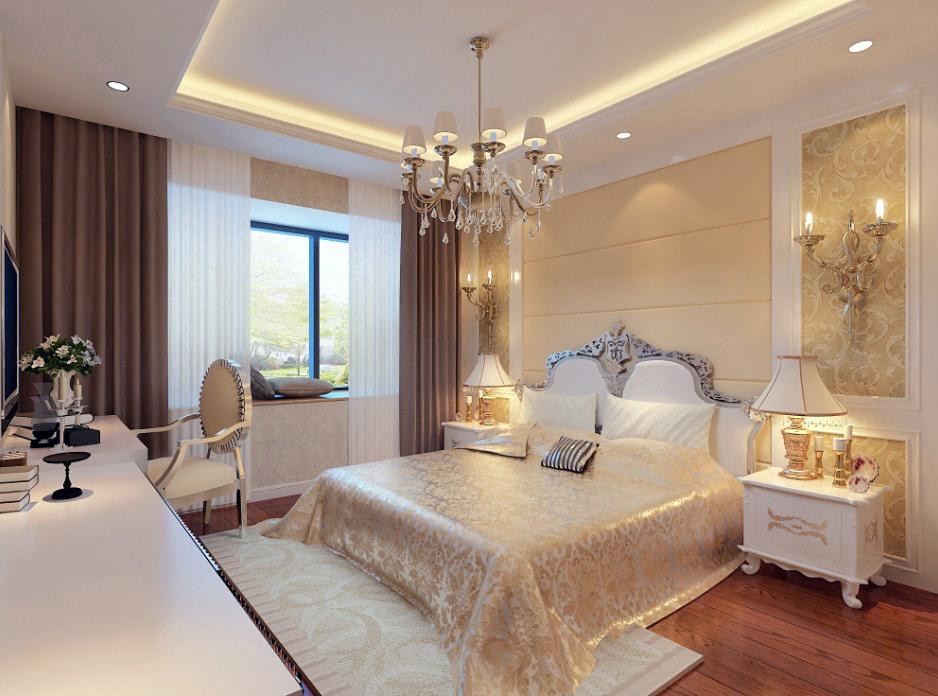 白色欧式雕花把餐厅和客厅分隔开,客厅的亮点尤为突出,沙发背景和电视