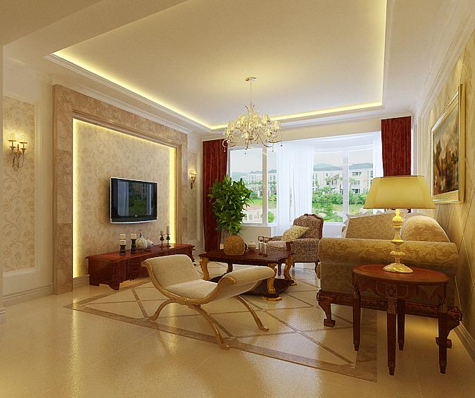 3万元装修100平3室2厅一卫一厨案例图欧式风格