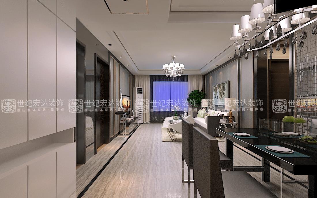 【户型说明】本户型是两室两厅一卫的户型 【装修风格】港式现代图片
