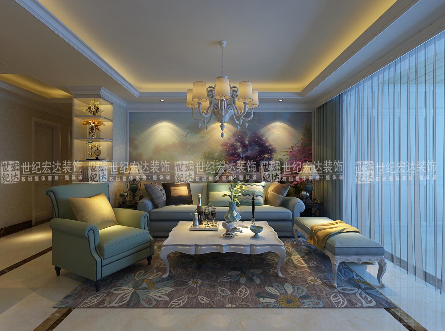 包含项目: 墙面处理,吊顶造型,吊顶石膏线,客厅影视墙硬包,隐形门