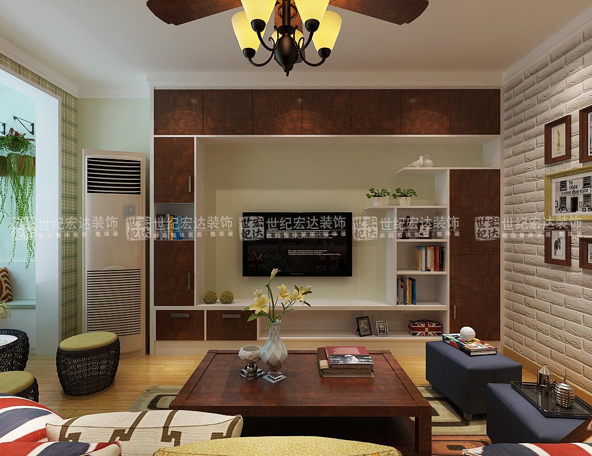 110平米三室一厅装修效美式