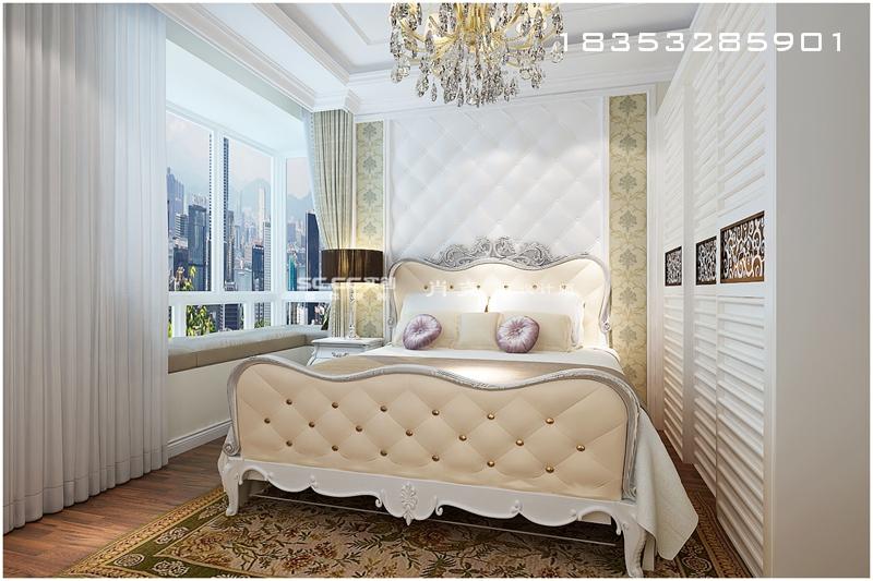李沧万达悦公馆-120平欧式高贵装饰空间
