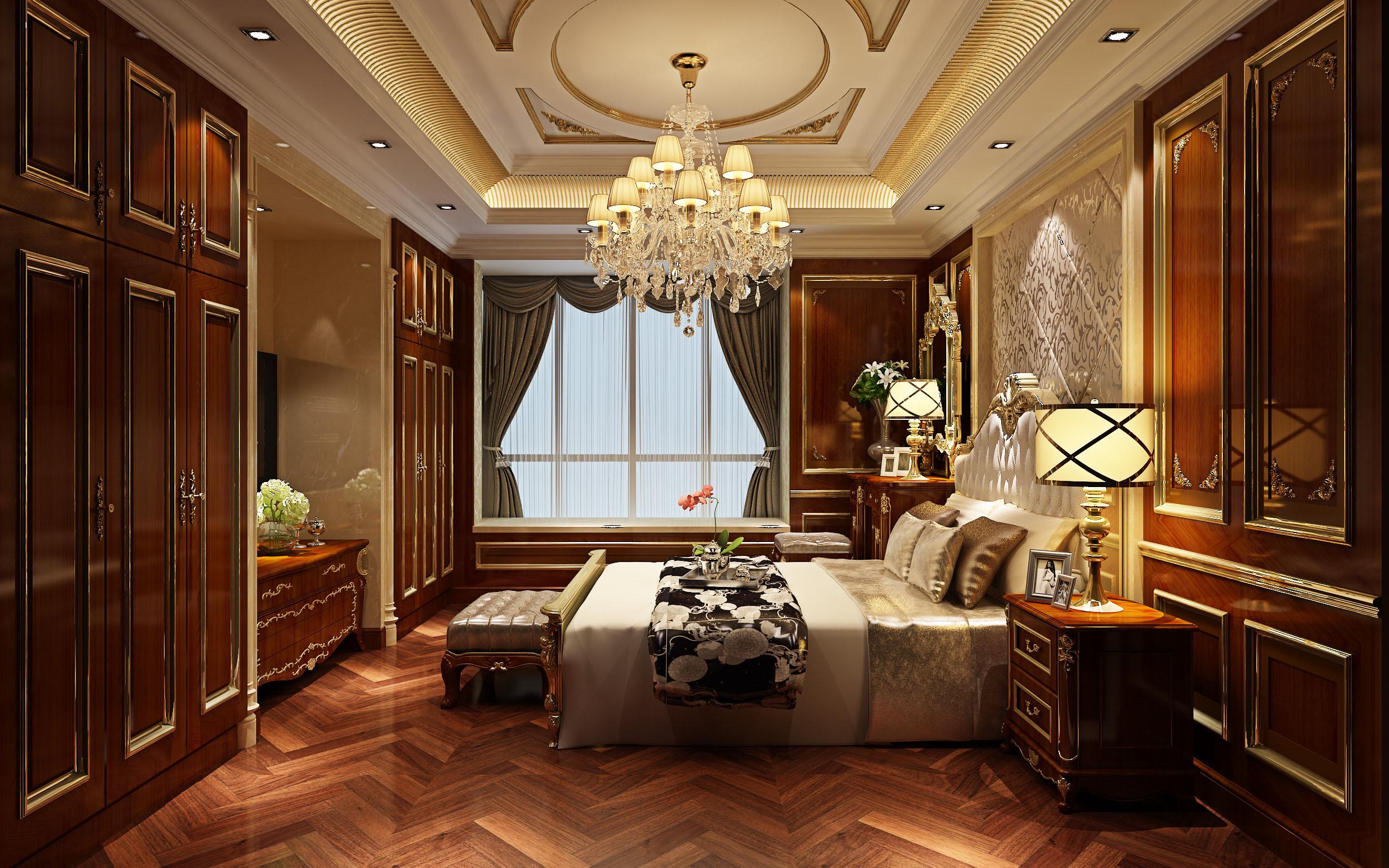 龙园意境白色欧式古典卧室