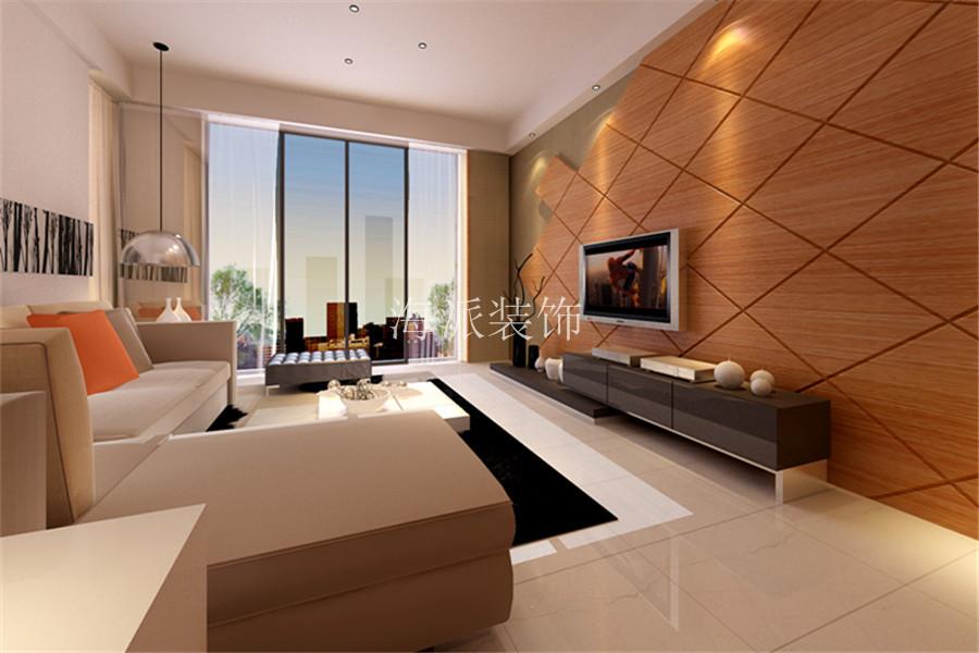 兴隆社区白色现代简约客厅效果图