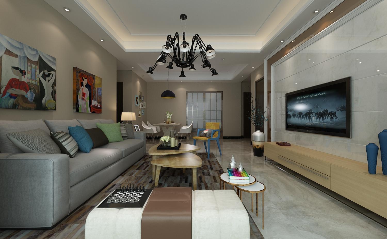 奥北公元欧式古典风格客厅装修效果