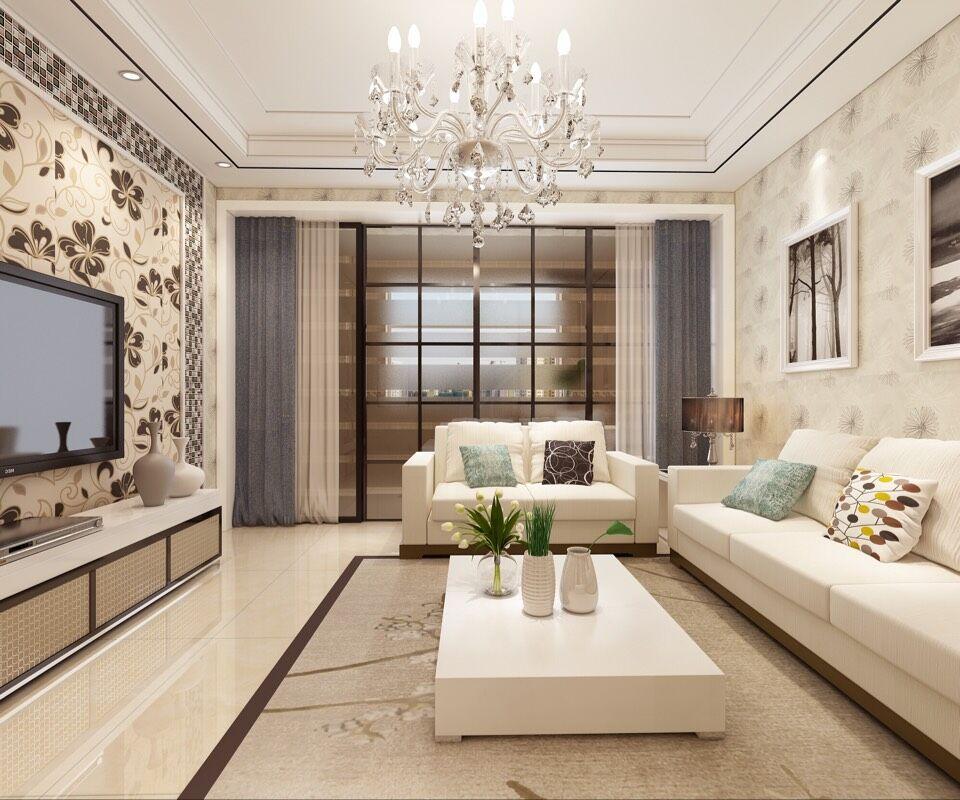 石家庄瑞城小区家庭装修效果图- 现代简约风格赏析-客厅装修设计效果