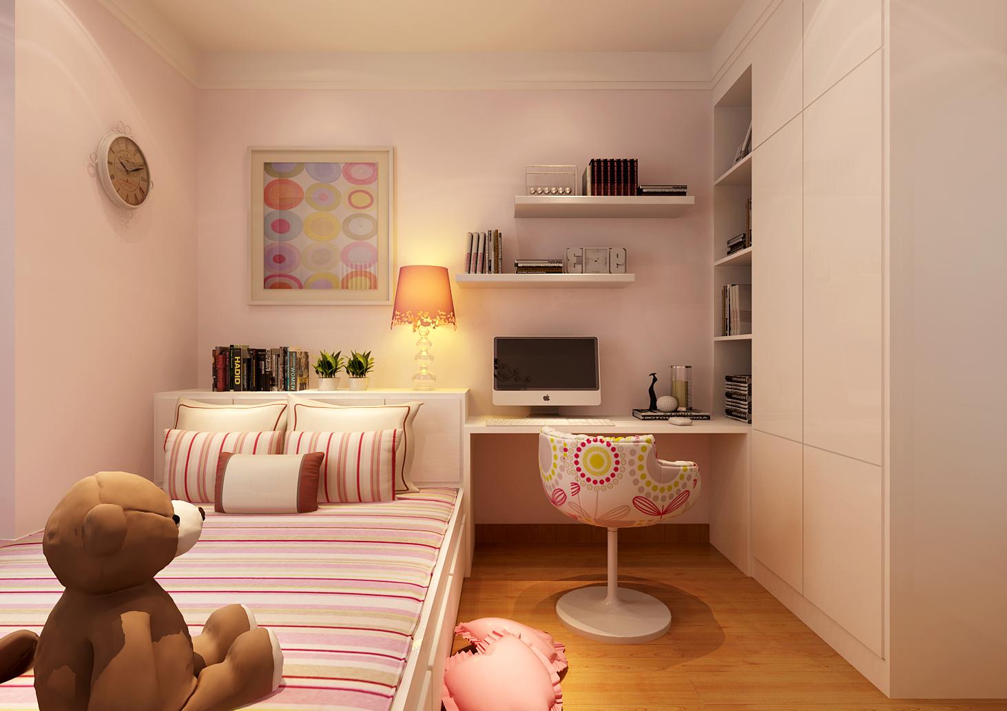 南边的小卧室是女儿房,做成了榻榻米的形式,这样就能留出足图片