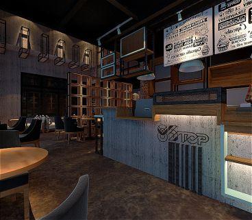 企石某咖啡厅300平娱乐空间装修
