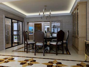 香蜜湖古典欧式风格别墅装潢