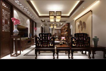 龙归苑中式风格复式住宅装修