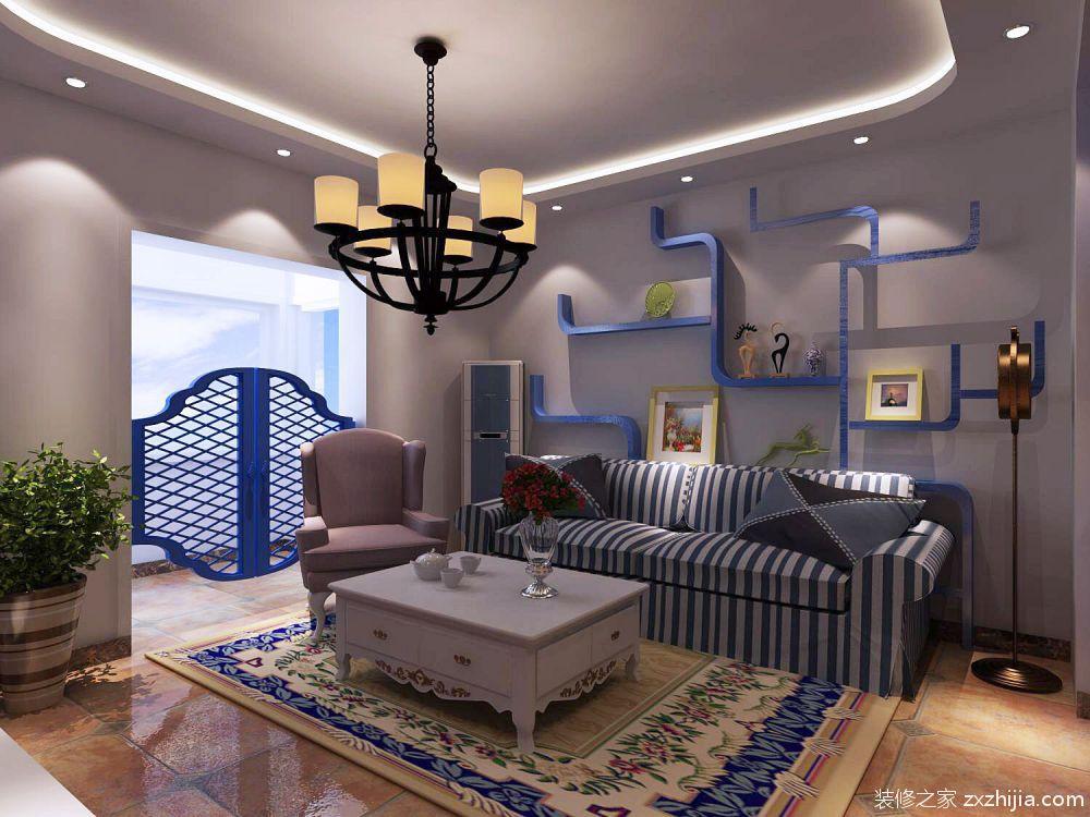 奥莱城地中海风格住宅装修