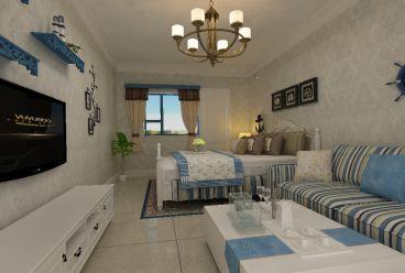 和平西苑简约风格两居室装修案例