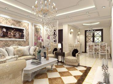 中海城欧式风格120平住宅家装案例