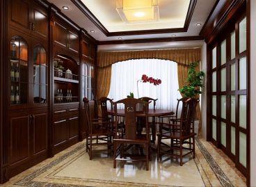 东江豪门中式风格170平装修