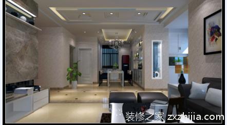 阳光尊邸简约风格三居室装修案例