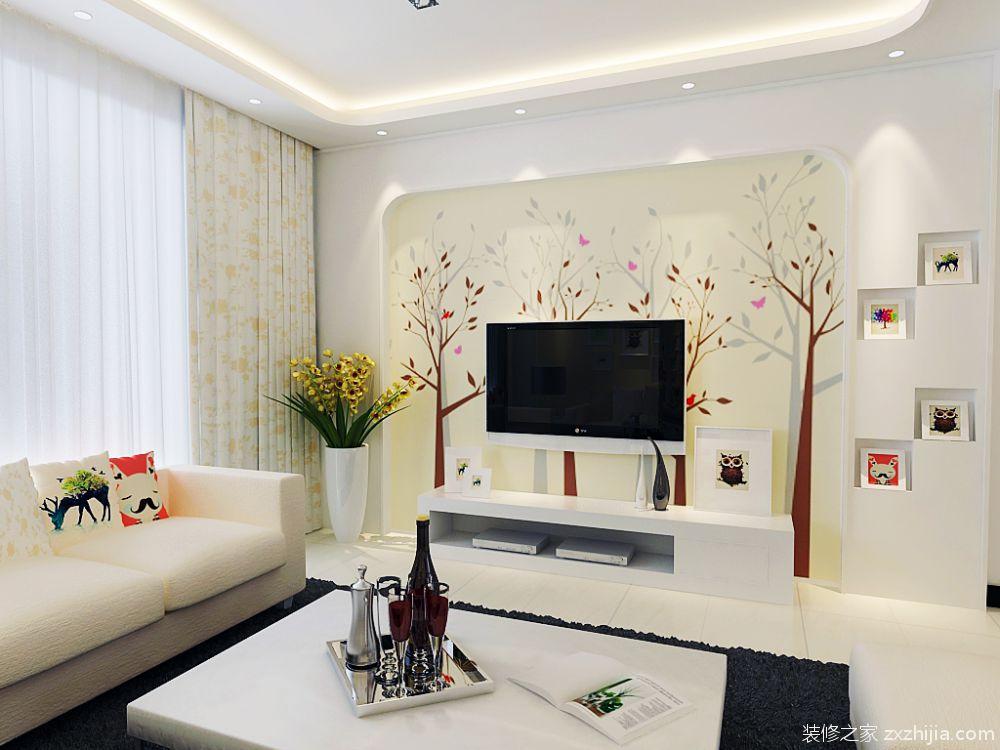 翰唐小区田园风格全包住宅装修案例