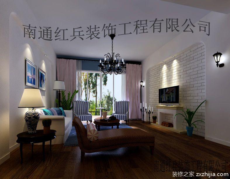 中海碧林湾田园风格98平装修案例