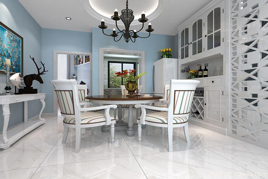 滇池源居法式风格91平两居室装修