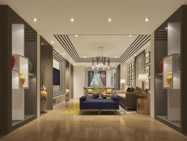 北辰三角洲美式风格四居室装修案例