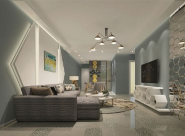 水岸世景简约风格两居室装潢