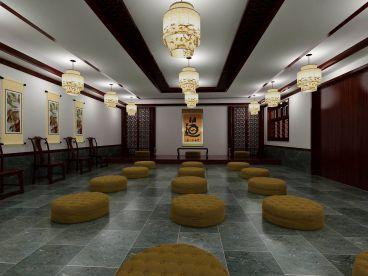 天桂山新中式风格200平餐饮空间装修