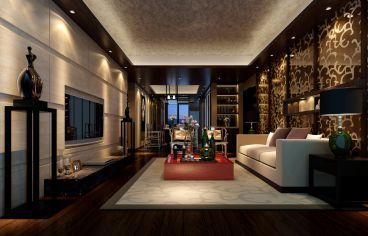 南海台简约风格黑色的两居室装修