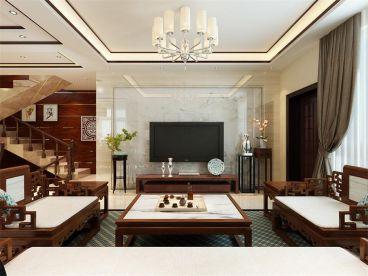 洛阳路劲御城复式住宅中式风格装修