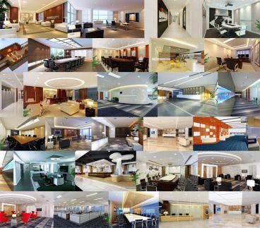 办公空间简约风格200平装修案例