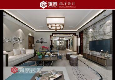 景苑小区新中式风格三居室住宅装修