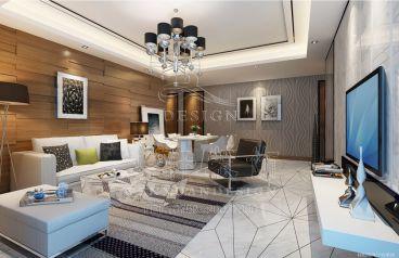 龙湾三期现代风格三居室装修案例