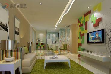 北桥盛北花园东南亚风格两居室装修案例