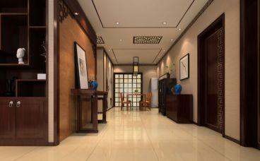 天下玉苑中式风格三居室住宅装潢