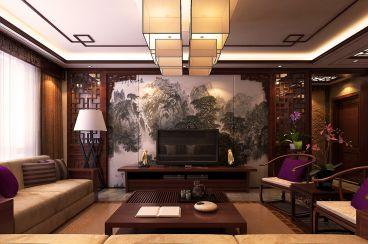 星河御城新中式风格三居室全包住宅装修