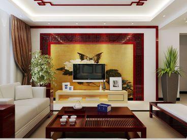 国际城新中式风格130平住宅装修