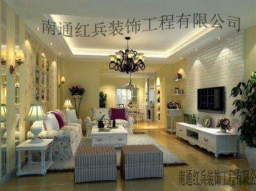 世纪新城田园风格138平半包住宅装修
