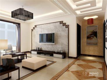 海棠湾中式风格137平装修案例