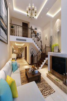 丽晶国际地中海风格112平两居室装修
