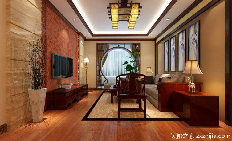 十里江山新中式风格半包三居室装潢