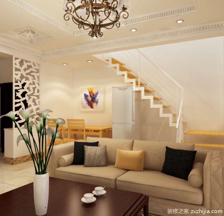 远洋假日简约风格120平复式住宅装修